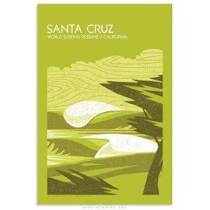 Santa Cruz World Surfing Reserve Print by Erik Abel