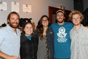 (left to right) Trey Highton, film festival director,  Kim Marks, Lauren Parrino, Preston Duncan, and Lennon Stankavich.