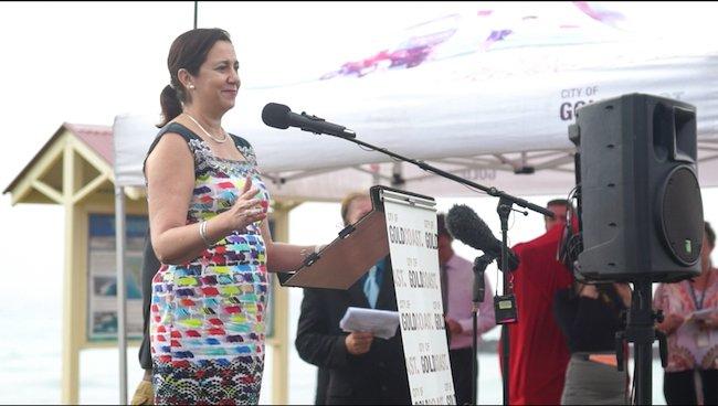 Queensland Premiere Palaszczuk. Credit: Luis Tantajulca